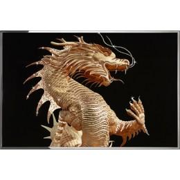 Золотой китайский дракон