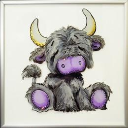 "Картина Swarovski ""Плюшевый бычок"""