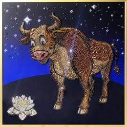 """Картина Swarovski """"Символ года 2021-Бык"""""""