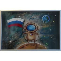 "Картина Swarovski "" Космонавт"""