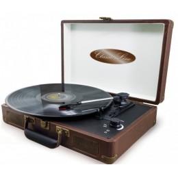 """Ретро проигрыватель в кожаном чемодане Soundmaster """"Classic Line"""" (+ доп игла)"""