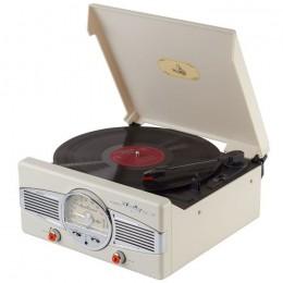 """Ретро-проигрыватель виниловых дисков """"Playbox San Remo Beige"""""""