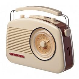 Радиоприемник ретро Playbox Budapest Сream Brown