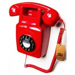 Настенный телефон в стиле ретро GPO 746 Wall Red
