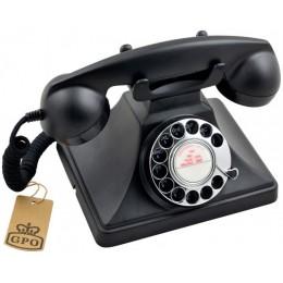 Телефон дисковый в стиле ретро GPO 200 Rotary Black