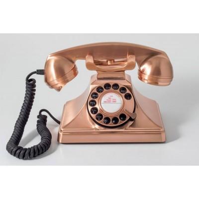 Телефон дисковый в стиле ретро GPO 200 Rotary Copper