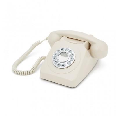Телефон дисковый в стиле ретро GPO 746 Push Ivory