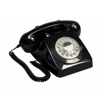 Телефон дисковый в стиле ретро GPO 746 Rotary Black