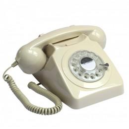 Телефон дисковый в стиле ретро GPO 746 Rotary Ivory