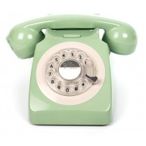 Телефон дисковый в стиле ретро GPO 746 Rotary Mint Green