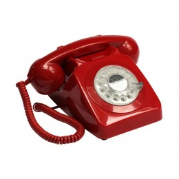 Телефон дисковый в стиле ретро GPO 746 Rotary Red