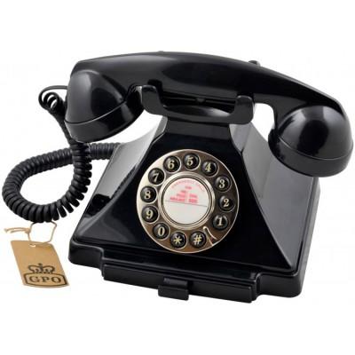 Телефон ретро кнопочный GPO 1929S Carrington Black
