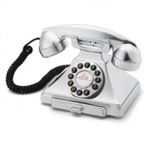 Телефон ретро кнопочный GPO 1929S Carrington Chrome
