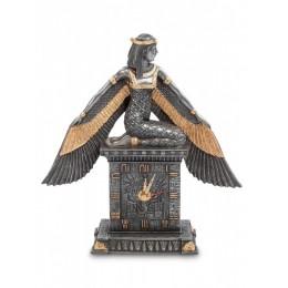 """Статуэтка Veronese Часы """"Исида - богиня материнства и плодородия"""" (black/gold)"""