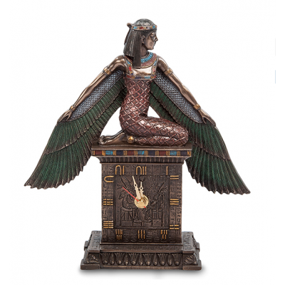 """Статуэтка Veronese Часы """"Исида - богиня материнства и плодородия"""" (bronze)"""
