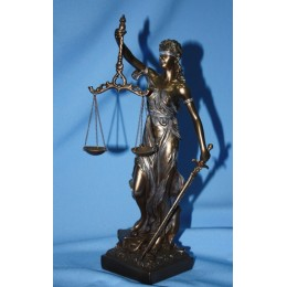 """Бронзовая статуэтка """"Фемида-богиня правосудия"""""""