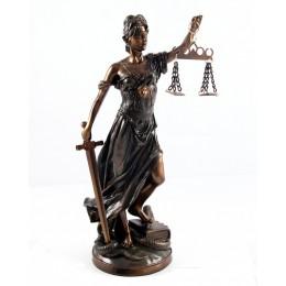 """Статуэтка с бронзовым покрытием богиня правосудия Фемида """"Правосудие"""""""