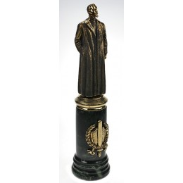 """Бронзовая статуэтка """"Железный Феликс"""" (Дзержинский) выс.29см"""