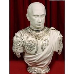 """Подарочный бюст бисквит с золотом """"Путин В.В."""""""