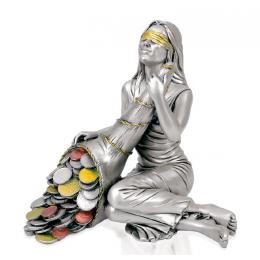 """Посеребренная статуэтка """"Богиня удачи Фортуна"""", выс.15см"""