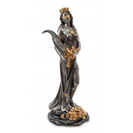 """Статуэтка Veronese """"Фортуна - богиня удачи"""" 74см (black/gold)"""