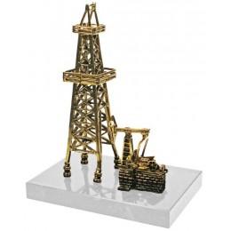 """Бронзовая статуэтка """"Нефтяная вышка"""" выс.17см"""