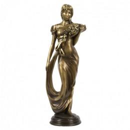 """Декоративная статуэтка """"Дама с цветами"""", выс.47см"""
