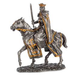 """Фигурка Veronese """"Конный рыцарь крестоносец"""" (олово)"""