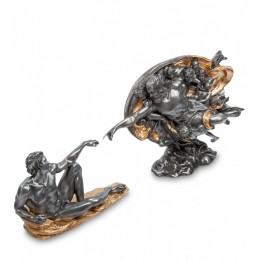 """Композиция Veronese """"Сотворение Адама (фреска Микеланджело)"""" black/gold"""