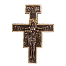 """Панно Veronese """"Распятие Сан-Дамиано"""" (bronze/gold)"""