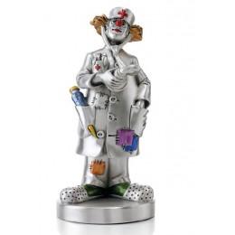 """Посеребренная статуэтка Mida 120271 """"Клоун Доктор"""" 20см"""