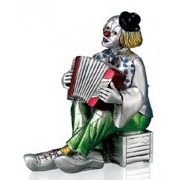 """Статуэтка с серебрением Mida 120206 """"Клоун с аккордеоном"""", выс.22см"""