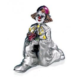 """Статуэтка с серебрением Mida 120225 """"Клоун на колене"""", выс.10см"""