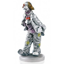 """Статуэтка с серебрением Mida 120235 """"Влюбленный клоун"""", выс.19см"""
