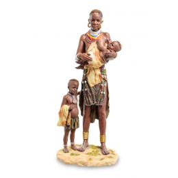 """Статуэтка Veronese """"Африканка с детьми"""" (color)"""
