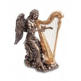 "Статуэтка Veronese ""Ангел, играющий на арфе"" (bronze/gold)"