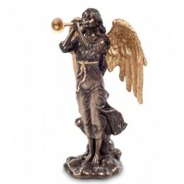 "Статуэтка Veronese ""Ангел, играющий на трубе"" (bronze/gold)"