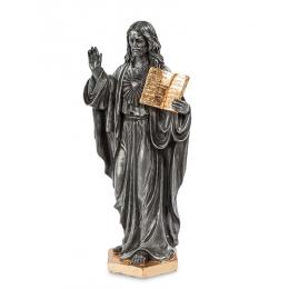 """Статуэтка Veronese """"Иисус с Ветхим Заветом"""" (black/gold)"""