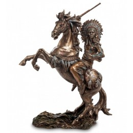 """Статуэтка Veronese """"Индеец на коне"""" (bronze)"""