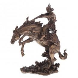 """Статуэтка Veronese """"Индеец на коне"""" 30см (bronze)"""