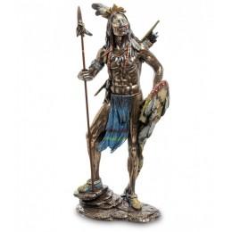 """Статуэтка Veronese """"Индеец с копьем и щитом"""" (bronze)"""