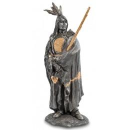 """Статуэтка Veronese """"Индеец с ружьем' (black/gold)"""