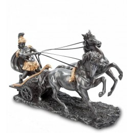 """Статуэтка Veronese """"Воин на колеснице"""" (black/gold)"""