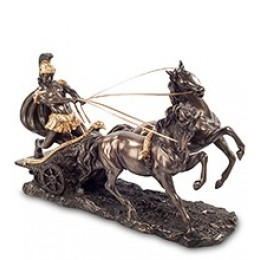 """Статуэтка Veronese """"Воин на колеснице"""" (bronze/gold)"""