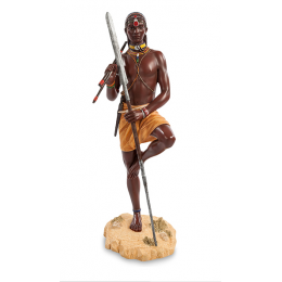 """Статуэтка Veronese """"Воин племени Масаи"""" (color)"""