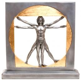 """Статуэтка """"Витрувианский человек"""" (Леонардо да Винчи) (black/gold)"""