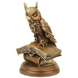 """Скульптура """"Смышленая сова"""" на подставке(большая)"""