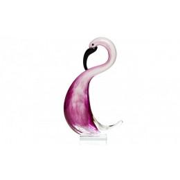 "Статуэтка из стекла ""Фламинго"" (розовый) 6 х 13 х 23 см"