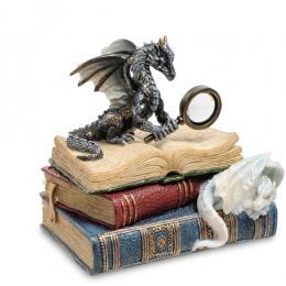 """Статуэтка Veronese """"Дракон на книгах"""" (color)"""