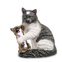 """Статуэтка Veronese """"Кот с песочными часами"""" (Лиза Паркер) (color)"""